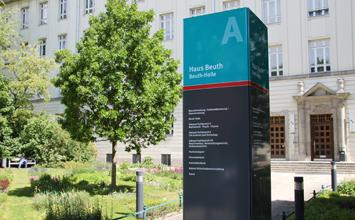 Beuth Hochschule - Informations- und Leitsystem von HORN Orientierungssysteme Berlin