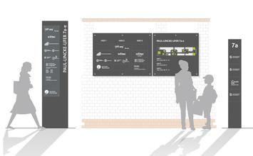 Paul-Lincke-Ufer 7 - Kommunikationsdesign von HORN Orientierungssysteme Berlin