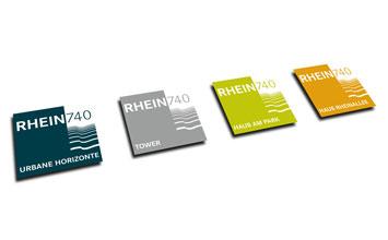 Rhein740 in Düsseldorf - Marketingkonzept von HORN Orientierungssysteme Berlin