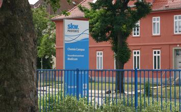 SKW Stickstoffwerke PIesteritz - Informations- und Leitsystem von HORN Orientierungssysteme Berlin